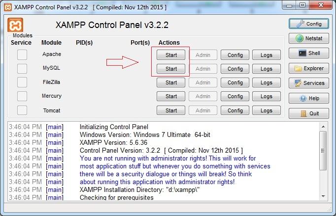 cara install xampp pada windows