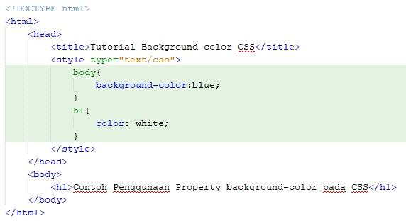 Cara Merubah Warna Background Dengan CSS