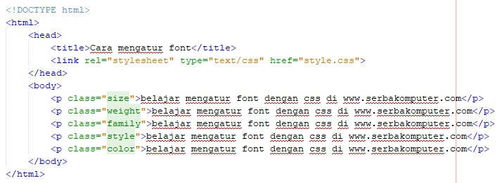 cara mengatur font dengan CSS