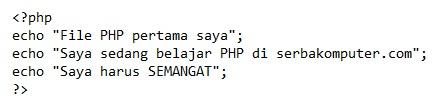 cara menjalankan file php