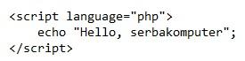 cara memasukan kode PHP ke dalam HTML