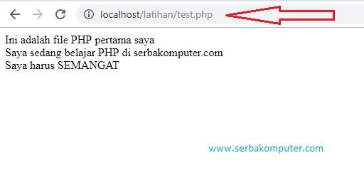cara menjalankan file php dengan xampp