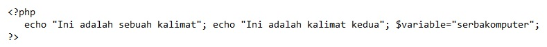 aturan penulisan kode PHP